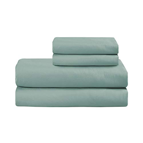 Basic Choice Bed Sheet Set - Brushed Microfiber 1800 Ultra Soft Bedding - Wrinkle, Fade, Stain Resistant - 4 Piece (Spa Blue, KING) by Basic Choice