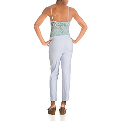 S.C. & Co Canada's Best Pull on Techno Stretch Straight Leg Pant with Tummy Control (2, sparkling grape) at Women's Clothing store