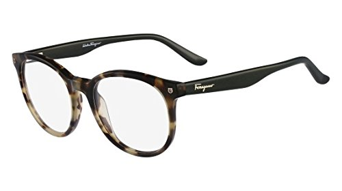 4094ddb5ad1 Image Unavailable. Image not available for. Colour  Salvatore Ferragamo  SF2686 Eyeglass 316 Khaki Green Tortoise Frame