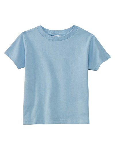 A Product of Rabbit Skins Toddler Cotton Jersey T-Shirt -Bulk Saving Light Blue