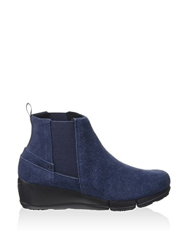 crocs Damenstiefel Stretch Sole Wedge Bootie - Navy Blau