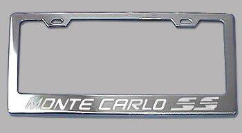 Fit Chevy Monte Carlo SS Matt Black Liecnese Plate Frame Caps