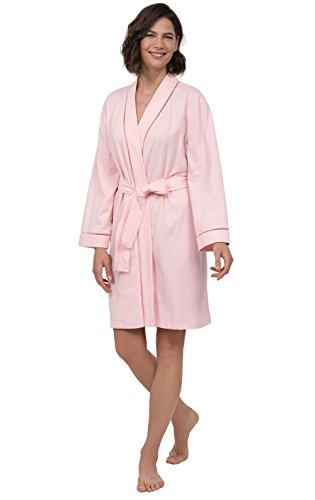 PajamaGram Short Bathrobes for Women - Cotton Jersey Womens Robes