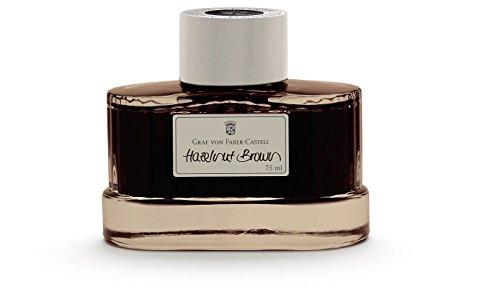 Graf von Faber-Castell Fountain Pen Ink, 75ml, Hazelnut Brown (FC141002) Brown Bottled Ink Refill