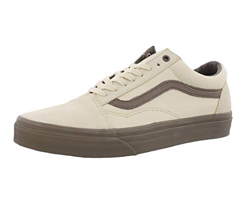 Vans Old Skool Classic Sneaker Skate Canvas VA38GIMOL Cream, Shoe Size:EUR 44 (Vans Cream Shoes)