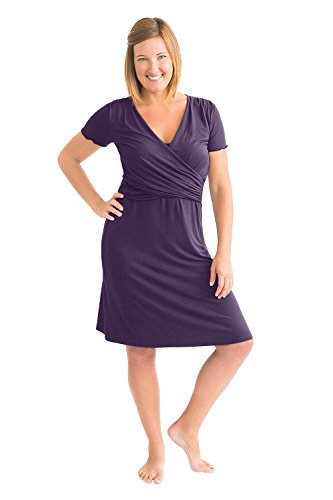 Cotton Nursing Nightgown (Kindred Bravely The Angelina Ultra Soft Maternity & Nursing Nightgown Dress (Eggplant, Medium))