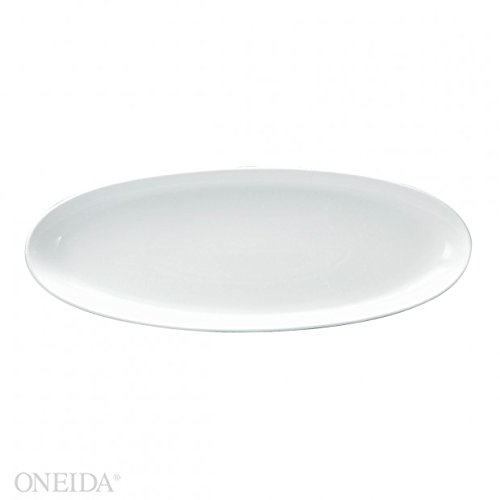 Oneida Foodservice F8010000899 Bright White Platter Oval 13 X 8 1/4 (Set of 12)