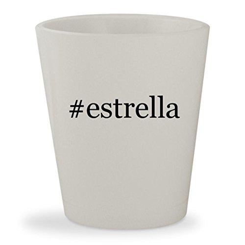 Estrella   White Hashtag Ceramic 1 5Oz Shot Glass