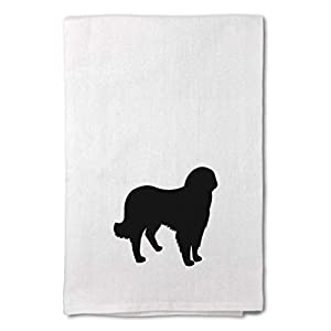 Style In Print Custom Decor Flour Kitchen Towels Akbash Silhouette Pets Dogs Cleaning Supplies Dish Towels Design Only 12