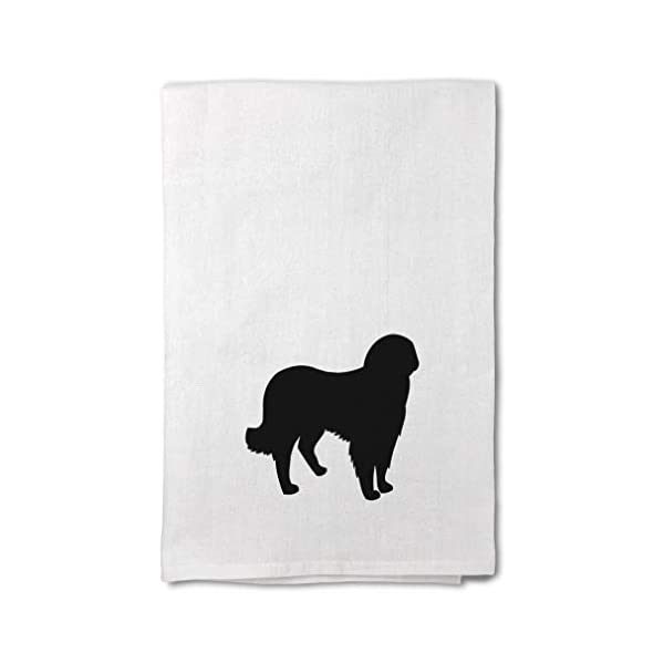 Style In Print Custom Decor Flour Kitchen Towels Akbash Silhouette Pets Dogs Cleaning Supplies Dish Towels Design Only 1
