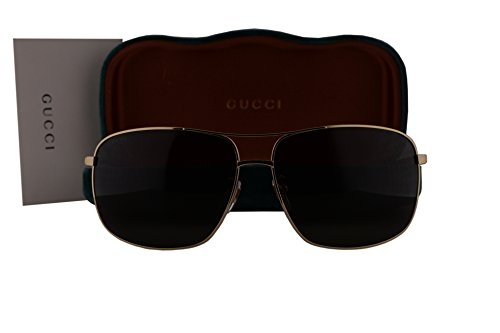 Gucci GG0065SK Sunglasses Shiny Endura Gold w/Green Lens 004 GG - Retro Gucci 62mm Sunglasses