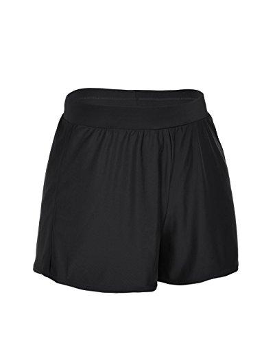 ninovino Women's Swim Boy Shorts A-Line Loose Tankini Bottom With Briefs Black US18 by ninovino (Image #2)