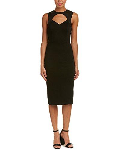 alice and olivia black leather dress - 6