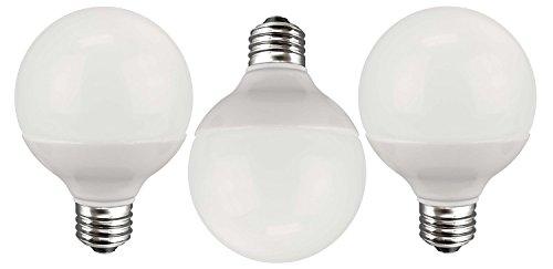 K&R LED G25 - 40 Watt Equivalent (only 5W used!) Pure White (5500K) Energy Star Globe Light Bulb 3 - Pack ()
