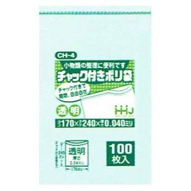 チャック袋 CH-04 170×240×0.040mm 100枚×40袋 B01N34TRCU