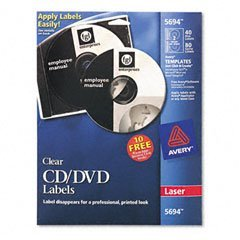 (AVE5694 - Avery Laser CD/DVD Labels)