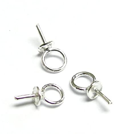 Amazon 10 pcs 925 sterling silver eye pins with 3mm pearl cup 10 pcs 925 sterling silver eye pins with 3mm pearl cup bail charm pendant connector mozeypictures Image collections