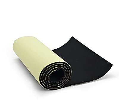 """Primode sponge Neoprene Roll, With Adhesive Bottom, For Multi Purpose Use, 1/4"""" Thick X 14"""" Wide X 58"""" Long"""