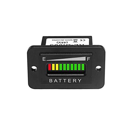 48V Volt Black LED Battery Indicator Meter Gauge Charge Discharge Testers for Lead-acid Battery Motorcycle Golf Cart Car Jet Ski EZGO Club Car Yamaha Rectangle