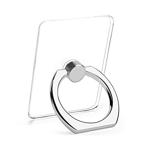 - Transparent Cell Phone Ring Holder, 360 Degree Rotation, Finger Grip Stand Holder iPhone and ipad Tablet Ring Holder (2 Black + 2 Silver)