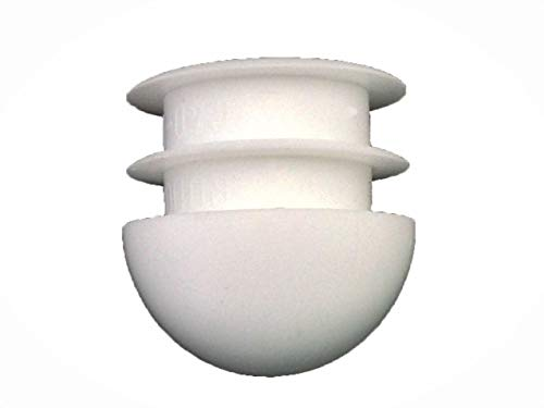 7/8 Round Insert Chair Leg Glide Protectors | White | Pack of: 25 (Parts Patio Furniture Replacement Woodard)