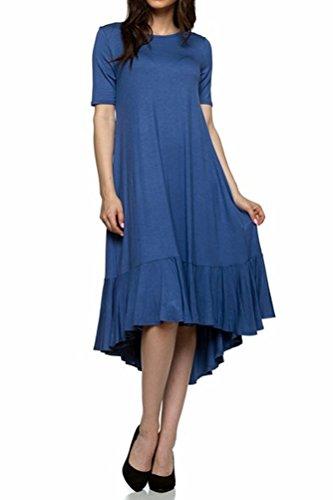 Pastel by Vivienne Women's Short Sleeve High-Low Mid Dress With Ruffle Detail Medium (Pretty Bubble Dress)