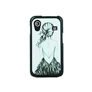 LIMME- Girl' Back Leather Vein Pattern Hard Case for Samsung Galaxy Ace S5830