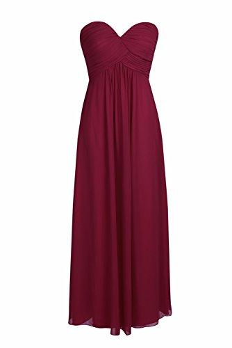 0fa2b92ca42e YiZYiF Elegant Damen Kleider lange Abendkleid festliche Hochzeit Party  Herzausschnitt Cocktailkleid Chiffon Brautjungfernkleider Abschlussball  Kleider Gr