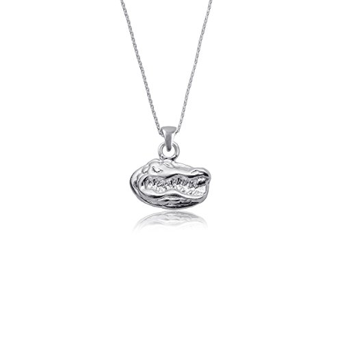 University of Florida Gators UF Sterling Silver Jewelry by Dayna Designs (Pendant Necklace) - Necklace Sterling Logo Silver