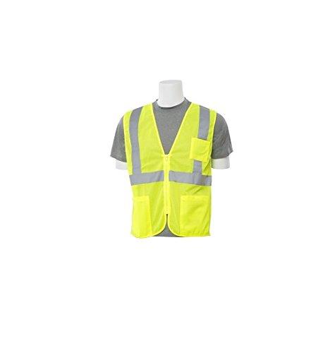Safety Vest Poly Mesh - ERB Safety 61654 S363P 6X Hi Viz Lime Economy Poly Mesh Safety Vest, 3