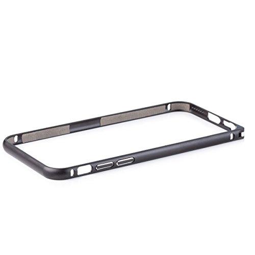 Wood Aluminum Metal Bumper Frame Case For iPhone 6 (Grey) - 1