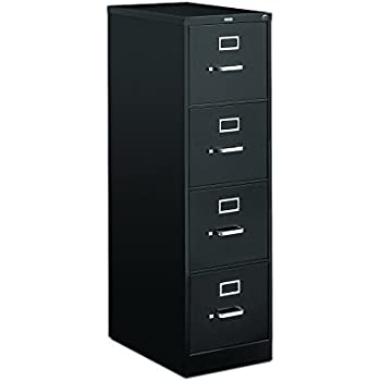 Amazon.com: HON 4-Drawer Letter File - Full-Suspension Filing ...