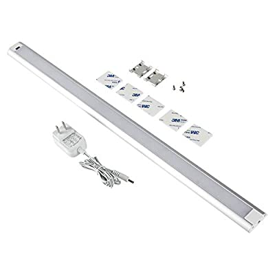 Haian 12/24Inch Panel LED Dimmable Under Cabinet Lighting Kit,Hand Wave Activated with IR Sensor,Under Counter Lighting Plug in for Kitchen,Touchless Dimming Control