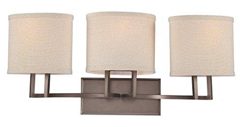 (Gemini - 3 Light Vanity Fixture W/Khaki Fabric)