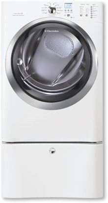 Electrolux EIMED60JIW 8 Cubic Foot Capacity Electric Front Load Dryer with Perfect Steam and IQ Touch, Island White