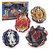 Bey Burst Evolution Starter Battling Top Fusion Metal Master Rapidity Fight with Two 4D Launcher Grip Set(4 in 1)