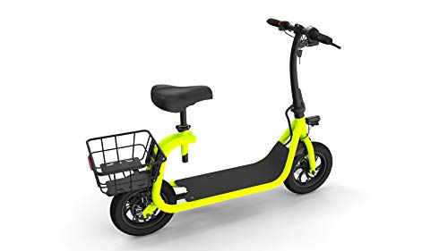 JASSCOL e-Scooter Powered e-Bike Pedal-Free 12 Miles Litiium-ion Battery Small Electric Scooter Vehicle