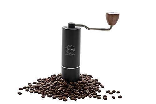 Bean Cento Manual Coffee Grinder Burr-Portable Hand Coffee Grinder with Adjustable Setting-Stainless Steel Conical Burr…