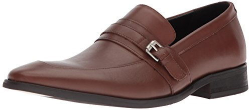 Calvin Klein Men's Reyes Nappa Calf Leather Loafer Tan discount fashion Style footlocker pictures cheap price sale affordable 0F6sp