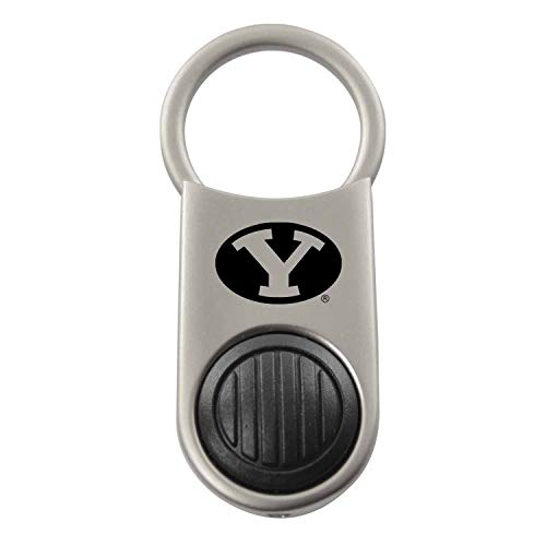 (Brigham Young University -LED Valet Key Chain, Easy-Open Swivel Clasp, Silver )