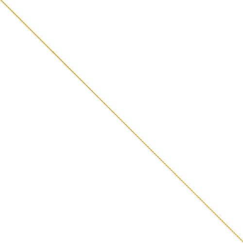 14k 1mm Solid Diamond Cut Spiga Chain