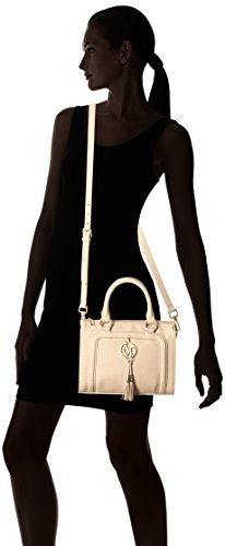 Armani Jeans Bauletto Bag In Faux Saffiano with Tassels Top Handle ... c32c39aaaf