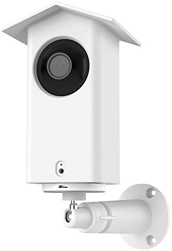 Aobelieve Outdoor Wall Mount with Protective Cover Skin for Wyze Cam Pan Security Camera, Metal Wall/Ceiling Mounting Bracket and Waterproof Silicone Housing Case Kit, White
