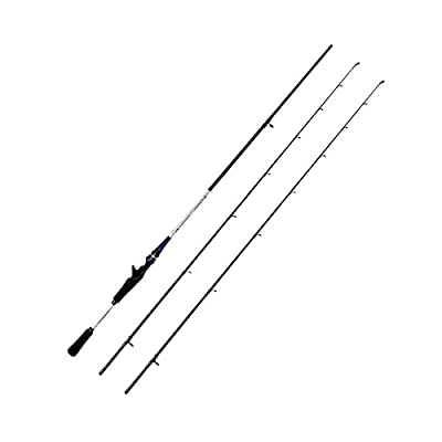[10$ OFF!!]2-Piece 7-Feet Casting Rod Carbon Portable Baitcast Rod Medium Light and Medium Inshore Baitcasting Fishing Rod Freshwater Baitcaster Rod with 2 Travle Design Casting Rod by Febway