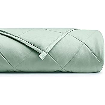 YnM Weighted Blanket (10 lbs for Kids Weigh Around 90lbs, 36''x48'')   2.0 Breathable Heavy Blanket   100% Oeko-Tex Certified Cotton Material with Premium Glass Beads, Sprout Green ...