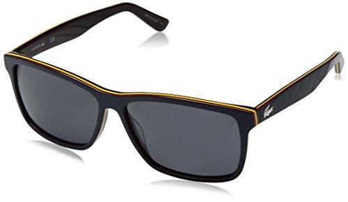 Lacoste Men's L705sp Polarized Rectangular Sunglasses, Dark Blue, 57 - Polarized Lacoste Sunglasses