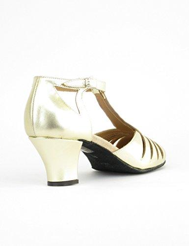 Rumpf 9210 Zapatos Baile Mujer Balboa Latino Salsa Rumba Tango Salón Cuero suela de cromo tacón 5 cm ¡Hechos en Italia! Gold