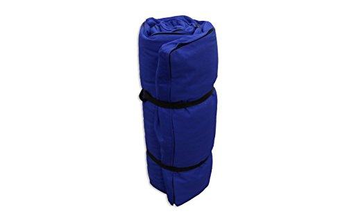 Futon Portatile Blu, 200x80x4 cm Futon On Line 0809001