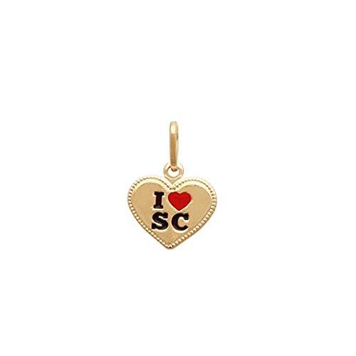 pingente coração i love santa catarina