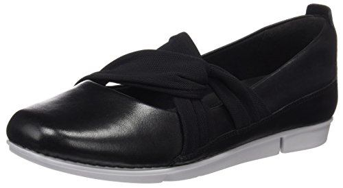 Negro Mujer Accord Bailarinas Leather para Clarks Tri Black wIXpZqqT